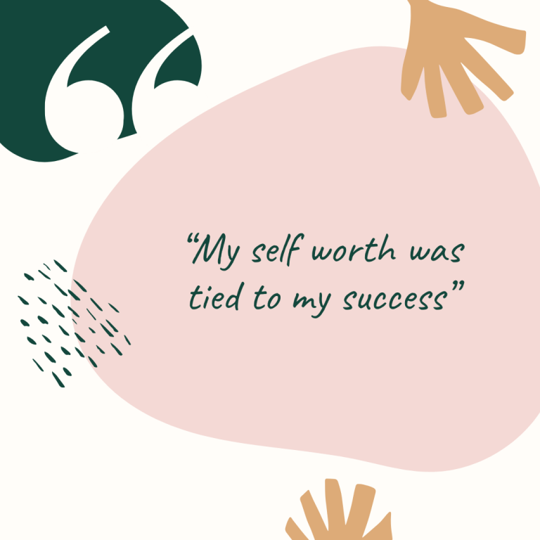 "Graduate Stories: ""my self worth was tied to my success"""