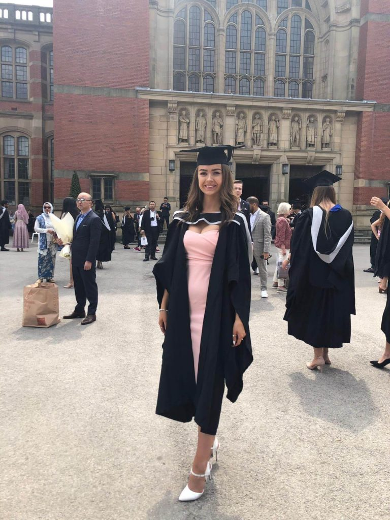 Holly's theatre thoughts - image shows woman graduating